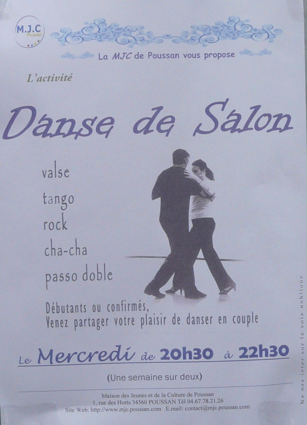 La danse de salon c est aussi la mjc agenda le blog - Musique danse de salon ...