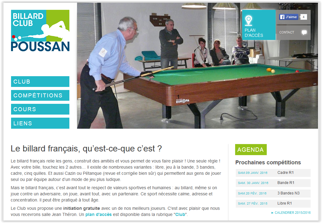 Billard sport categories le blog officiel de la ville de poussan page 2 - Mr bricolage narbonne ...
