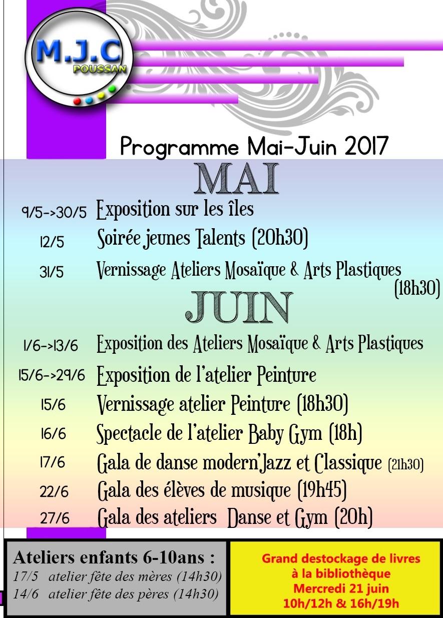 modif mosaïque PROGRAMME MAI JUIN 2017