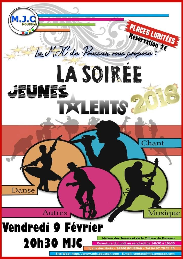 talentMail_Jeunes Talents Soiree Places Limitées Vendredi 9 fevrier 2018