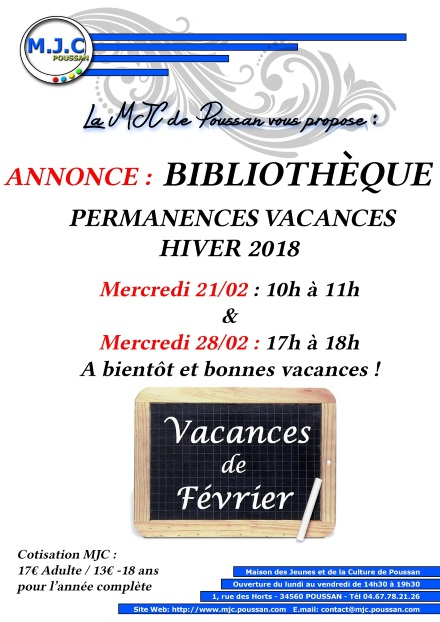 bibimail_affichette_bibli_horaire Vac_hiver2018
