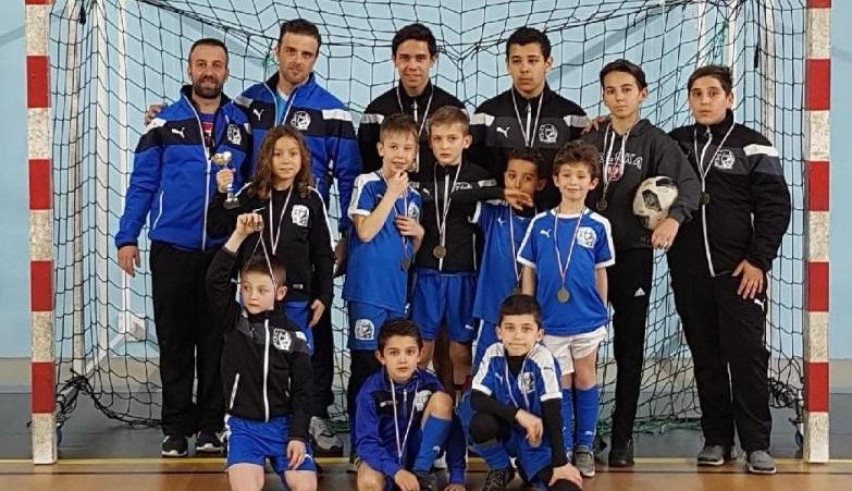 u8U8Equipe CA Poussan tournoi Futsal février 2018