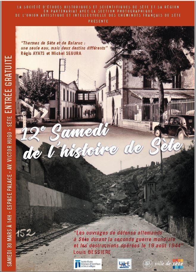 Affiche 12 Samedi Histoire de Sète