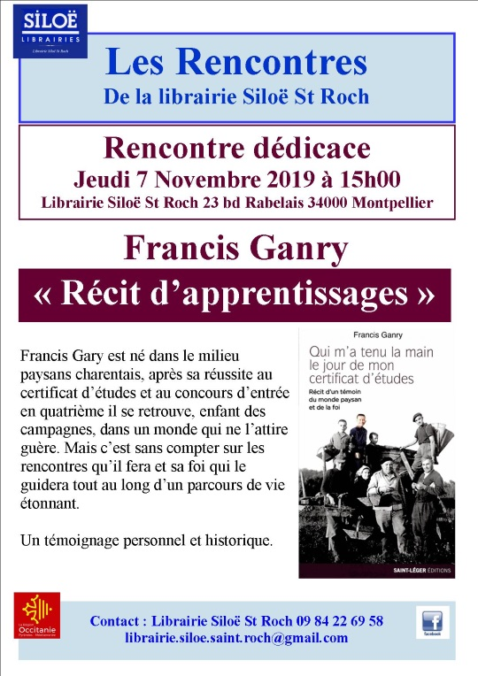Rencontre avec Francis Ganry 2019 st roch