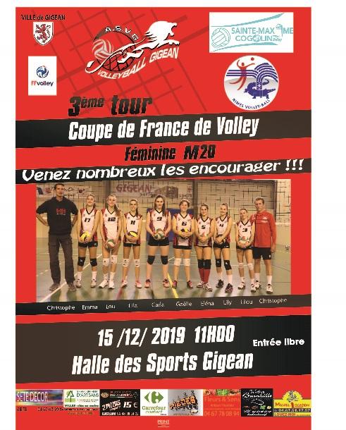 Affiche Volley coupe de france GIGEAN