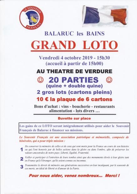 Affiche loto 4 octobre