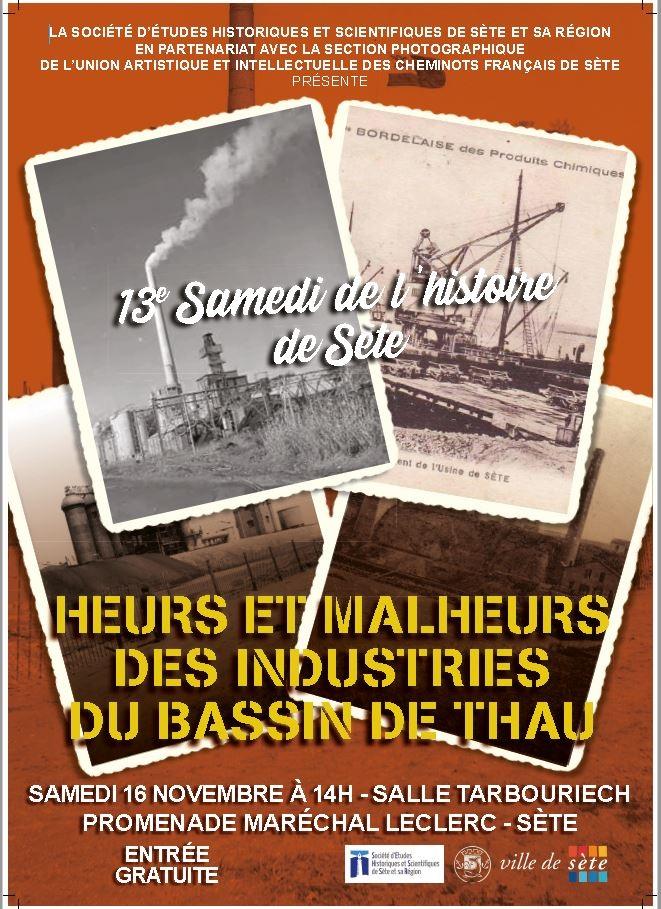 Affiche treizième Samedi de l'Histoire de Sète 16 novembre 2019-1