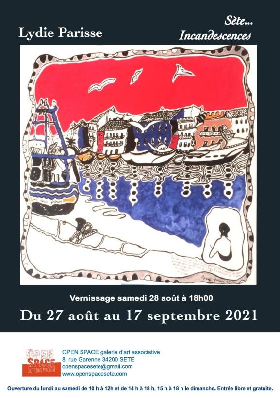 alydAAffiche expo Lydie Parisse 2021